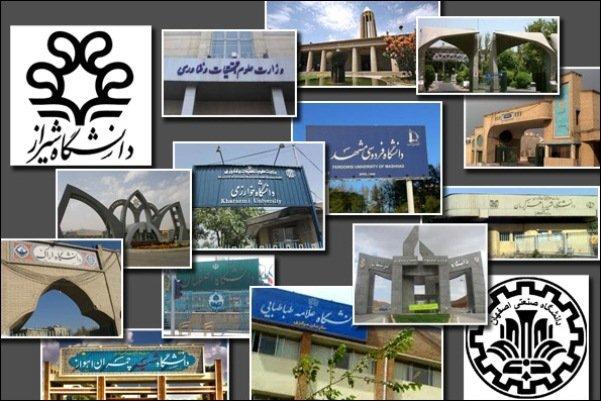 کسب رتبه برتر دانشگاههای کشور توسط دانشگاه تهران و شریف